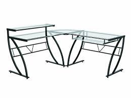 com z line belaire glass l shaped computer desk kitchen dining