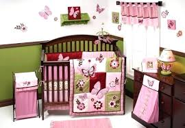 pink and brown nursery green ideas fabric baby bedding crib sets