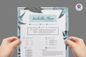 Girly Resume Templates Modern Resume Template Resume Templates Creative Market 2