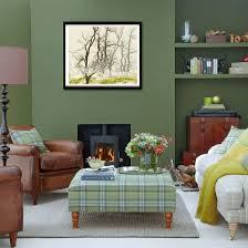 Forest green living room