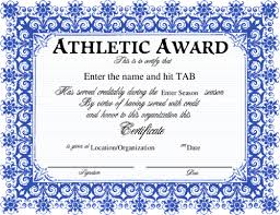 Sports Award Certificate Template Word - Frugalhomebrewer.com
