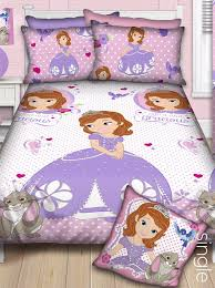 character linen sofia the first duvet cover single purple