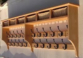 Shaker Coat Rack Basket shelves Shaker Peg Rails Country Shaker 47