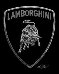 lamborghini logo black and white. lamborghini logo black and white