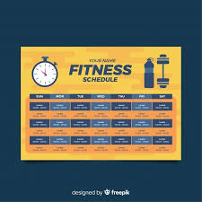 Design Schedule Template Free Modern Gym Schedule Template With Flat Design Svg Dxf