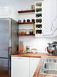 Cabinet Kitchen Shelves with Refrigerator
