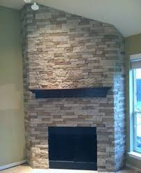 airstone lightweight stone like finish i think this should work for the fireplace install