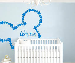 >baby name wall art set personalized custom baby name wall mickey  baby name wall art set personalized custom baby name wall mickey mouse vinyl wall baby girl nursery wall art stickers