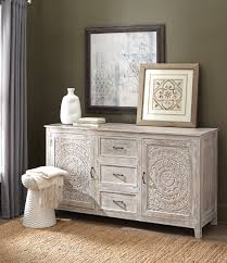 white washed mango wood. A Detailed Design On The Doors Gives It Standout Appeal. Gorgeous Whitewash Finish This Hand-carved Mango Wood Dresser Completes Look. White Washed