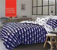 Shark vivid printing bedding sets queen size,4pc duvet cover set ... & Shark vivid printing bedding sets queen size,4pc duvet cover set,5pcs  Comforter sets Adamdwight.com