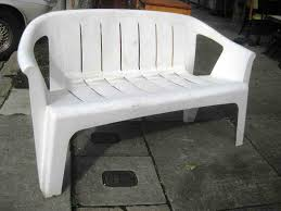 white plastic outdoor benches picture resin furniture bench less than garden seat chair cleaner park plastic