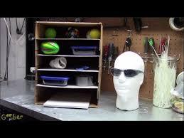 diy cardboard shelves for paper