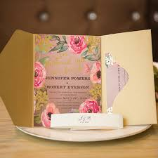 unique boho foil pressed floral gold glittery pocket wedding Pink And Gold Wedding Invitation Kits unique boho foil pressed floral gold glittery pocket wedding invitations Pink and Gold Glitter Wedding Invitations