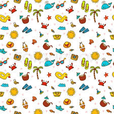 Summer Pattern Inspiration I Love Summer Seamless Summer Pattern With Hand Drawn Beach Icons