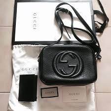 bn gucci soho small leather disco bag luxury bags wallets sling bags on carou