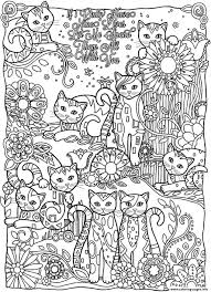 Small Picture Fancy Ideas Cat Coloring Pages For Adults Print Adult Difficult