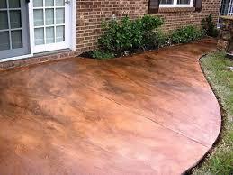 concrete patio stain diy