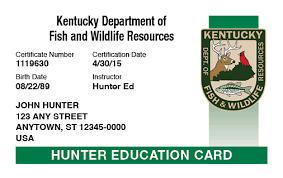 Safety Kentucky Course Official Hunter