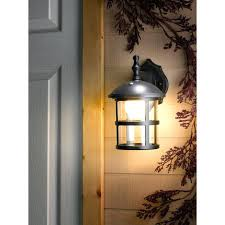 home depot white outdoor wall lighting z collection 1 light white outdoor integrated led wall lantern