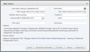 How To Add Wikipedia References For A Website Woorkup