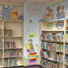 library wall mural