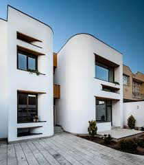 Curved Architecture White Modern House With Curved Surfaces In Isfahan Stands Out From