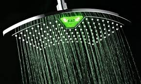 12 fan rainfall showerhead with color changing led lcd display