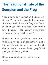 The Traditional Tale Of The Scorpion And The Frog Frog