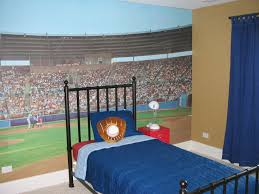 ... Handsome Design Ideas Of Boys Football Bedroom : Beautiful Design Ideas  Using Rectangular Black Iron Headboard ...