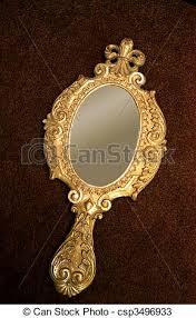hand holding antique mirror. Contemporary Mirror Old Brass Handmirror  Csp3496933 For Hand Holding Antique Mirror E