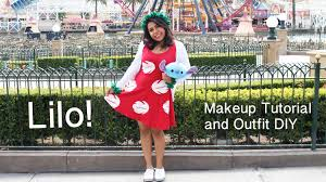lilo from lilo and stitch inspired makeup and dress diy you