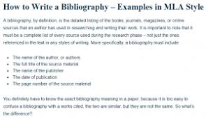 Mla Formatted How To Write A Bibliography Examples In Mla Style A Research