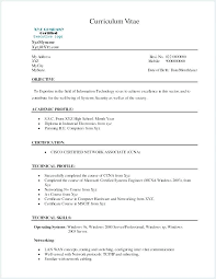 Pleasing Sample Resume Of Certification In Networking Resume ...