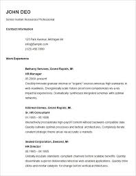 Simple Resume Format For Job Resume Corner