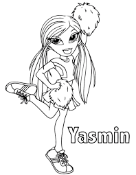 Small Picture Bratz coloring pages yasmin cheerleader ColoringStar