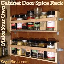 How To Build A Spice Rack Custom Vegan Street Home Eco Cabinet Door Spice Rack