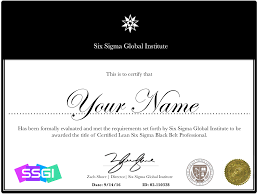 Lean Six Sigma Black Belt Certification Six Sigma Certification