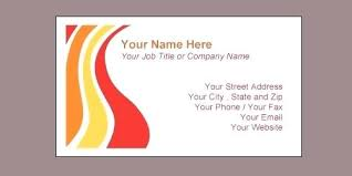 Free Printable Business Card Templates Microsoft Word Template