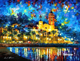 a custom made cityscape seascape landscape based on your photo by leonid afremov various sizes stretched