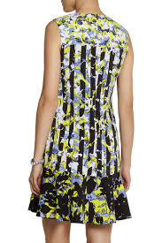 Printed Crepe Dress