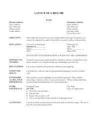 resume layouts samples