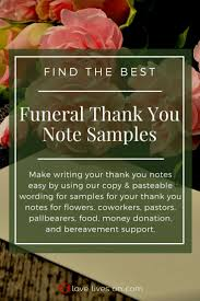 25 Unique Funeral Thank You Notes Ideas On Pinterest Funeral