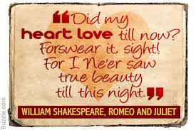 romeo and juliet quotes about love