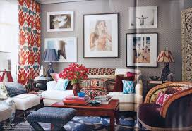 Red And Blue Living Room Decor Color Love Preppy Interior Design Ideas