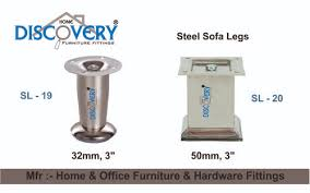 stainless steel silver sofa legs at