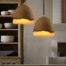 shabby chic lighting. shabby chic cement and resin small pendant lights lighting