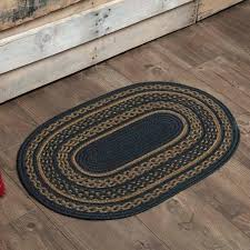 details about patriot indigo tan country cottage oval slice braided jute rug maui 8x10 filter products braided jute rug rugs reviews fir ivory oval