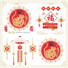 Chinese New Year, Year of the Rat, Spring Festival, Lunar new year, Rat year,  Calligraphy, gold red rat … | New year symbols, Chinese new year card, Year  of the pig