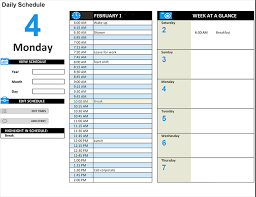 daily work schedule templates daily work schedule