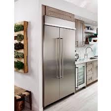 kitchenaid kbsn608epa 48 inch width panel ready built in side by side refrigerator 30 0 cu
